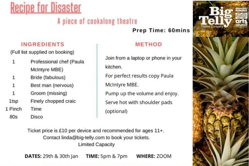 Big Telly #staysafe: Recipe for Disaster, cookalong theatre